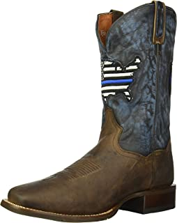 6428228b6dd Amazon.com | Dan Post Men's Thin Blue Line Flag Patch Cowboy Boot ...