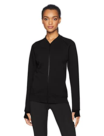 ac22200ee21 Amazon.com  Core 10 Women s (XS-3X) Motion Tech Fleece Fitted Bomber  Full-Zip Jacket  Clothing