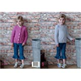533073b716eb8d King Cole Childrens Chunky Knitting Pattern Girls Cabled Cardigan   Sweater  (4969)