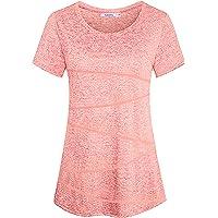 Sykooria Camiseta Deportiva Mujer Fitness de Manga Corta Tops de Yoga Camiseta Holgada Informal Transpirable de Secado…