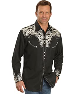 P-634-Roy Scully Men/'s Western Woven Gunfighter Royal Shirt