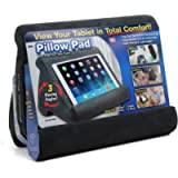 Pillow Pad Multi-Angle Soft Non-Slip Stand for Tablets, Books As Seen On TV, Machine-Washable Cloth (Grey)