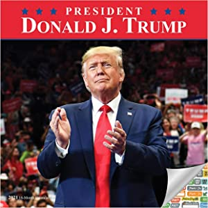 45th President Donald J. Trump Calendar 2021 Bundle - Deluxe 2021 Trump Wall Calendar with Over 100 Calendar Stickers (MAGA Gifts, Office Supplies)