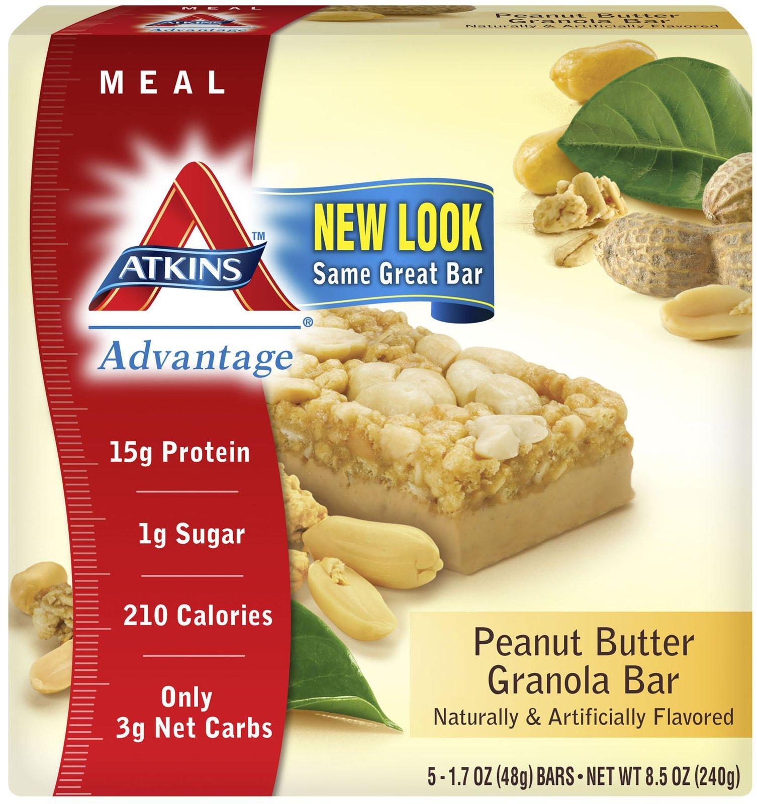 Advantage Bar,P Btr Granl By Atkins - 5 Pk, Pack of 8