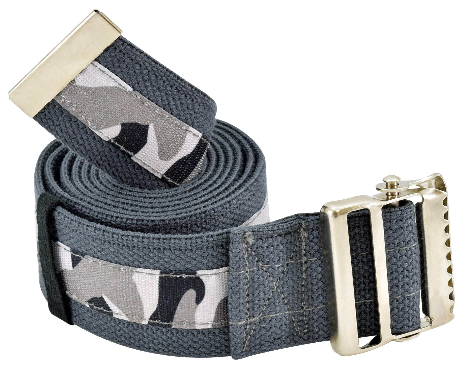 Secure Transfer & Walking Gait Belt with Metal Buckle and Belt Loop Holder for Caregiver, Nurse, Therapist, etc. (72'' x 2'' (Camo Print))