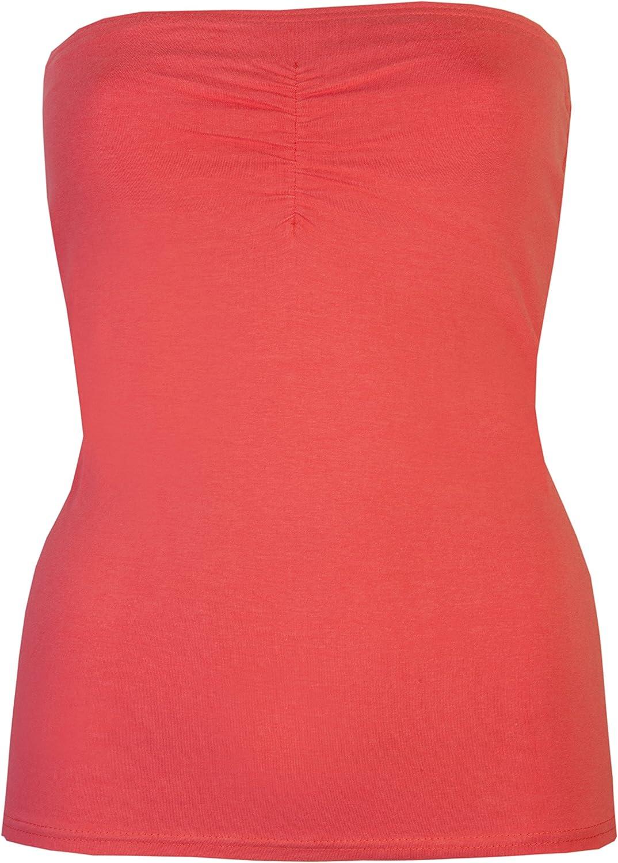con supporto interno estivo elasticizzato Top a fascia da donna senza spalline