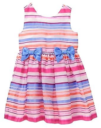 9c4a28334110 Amazon.com: Gymboree Baby Girls' Toddler Organza Stripe Dress, Multi ...