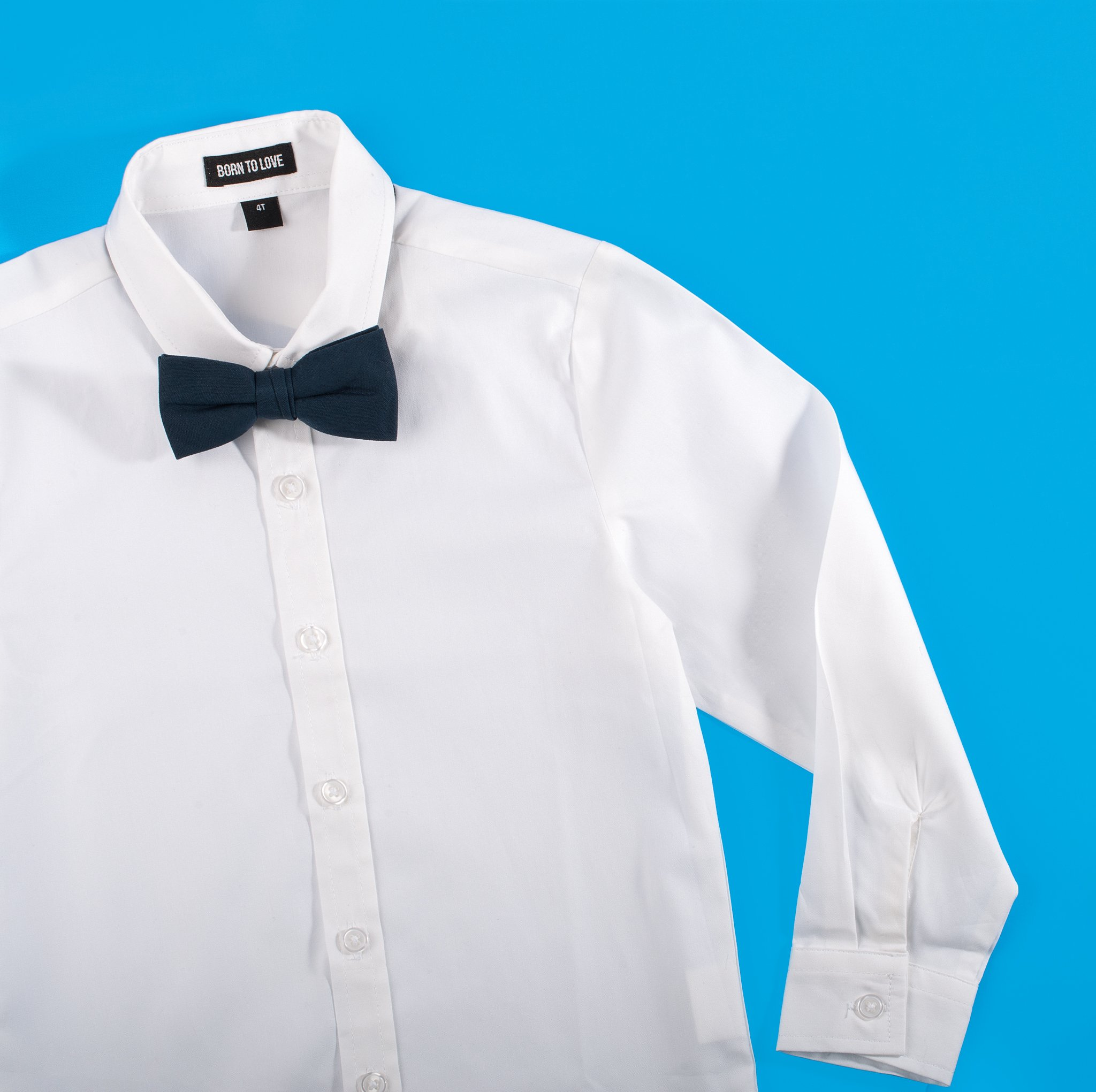 Born to Love - Wedding Baptism Birthday White Button-Up Shirt - Infant, Toddler & Boys 2T by Born to Love (Image #5)