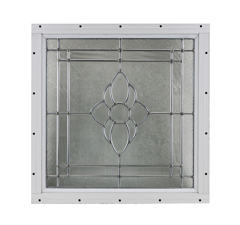 16'' x 16'' Decorative Cut Glass Flush Mount Shed Window