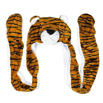 Amazon.com  Super Z Outlet Tiger Cute Plush Animal Winter Ski Hat ... 3e5780ac3f3