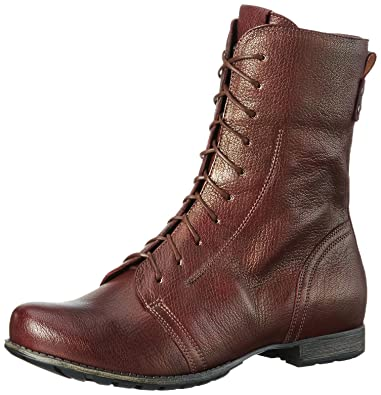 2897e8ab32 Think! Women 787023 Warm Lined Half-Shaft Boots and Ankle Boots Red ...
