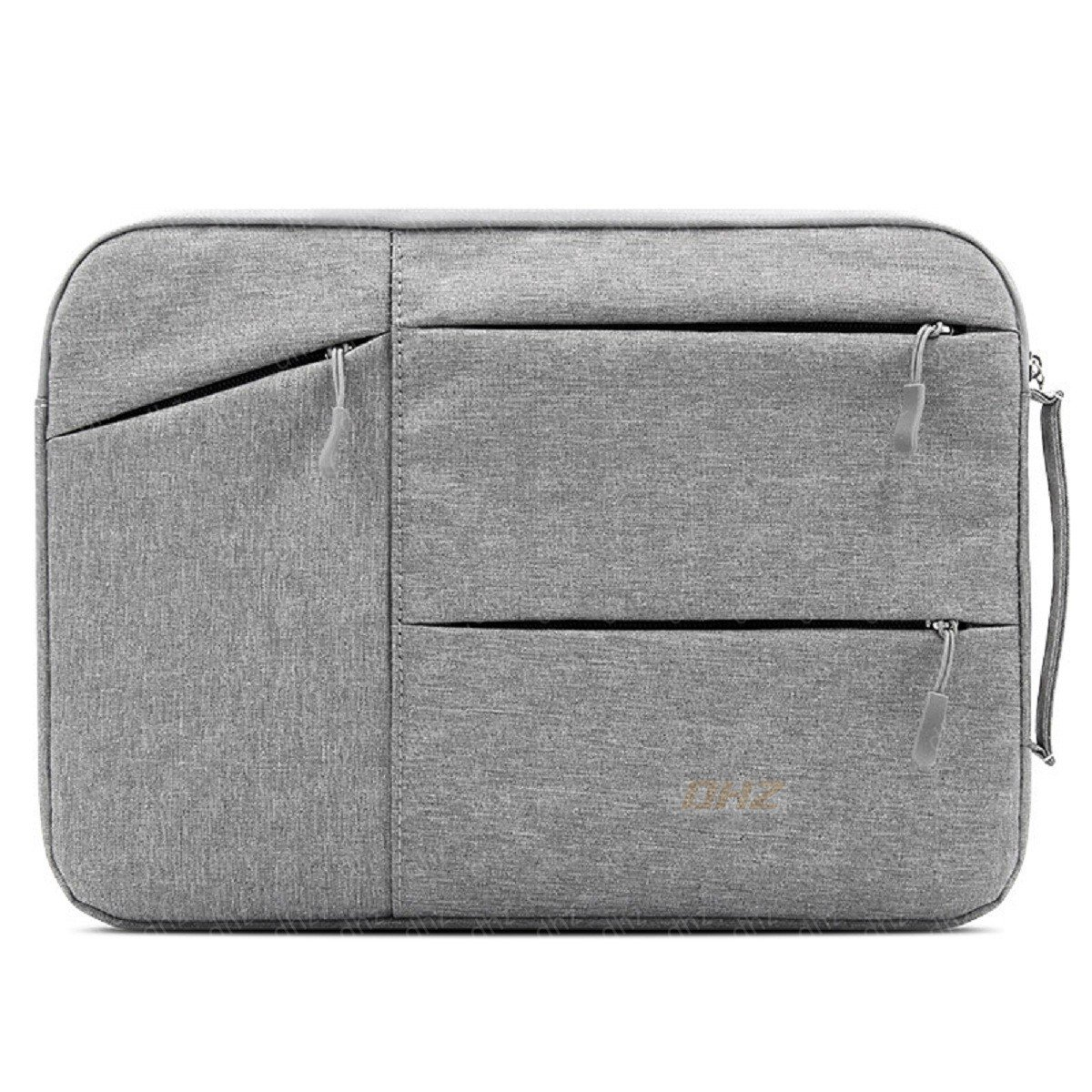 11-12 Inch Laptop Sleeve Briefcase DHZ Handbag for MacBook 12'' Retina,MacBook Air 11.6'',Notebook Computer Polyester Shockproof,Spill-Resistant Protective Case Carrying Bag with Accessory Pockets,Gray