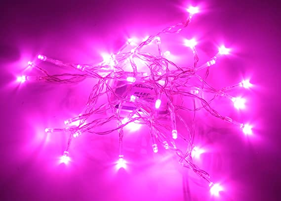 Karlling Battery Operated Pink 40 LED Fairy Light String Wedding Party Xmas  Christmas Decorations(Pink) - - Amazon.com - Karlling Battery Operated Pink 40 LED Fairy Light String Wedding