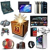 Mystery box elektronische, gelukkige verrassingsdozen, mobiele telefoons, laptop, smartwatches, hoofdtelefoons en meer…