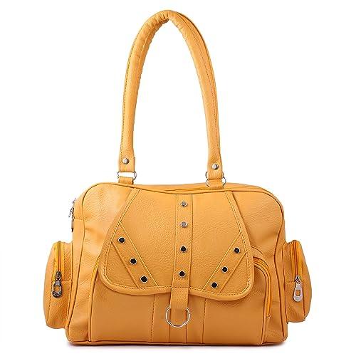Ritupal collection Women s Shoulder Handbag PU (Yellow)  Amazon.in  Shoes    Handbags 9fd9901aaeb06