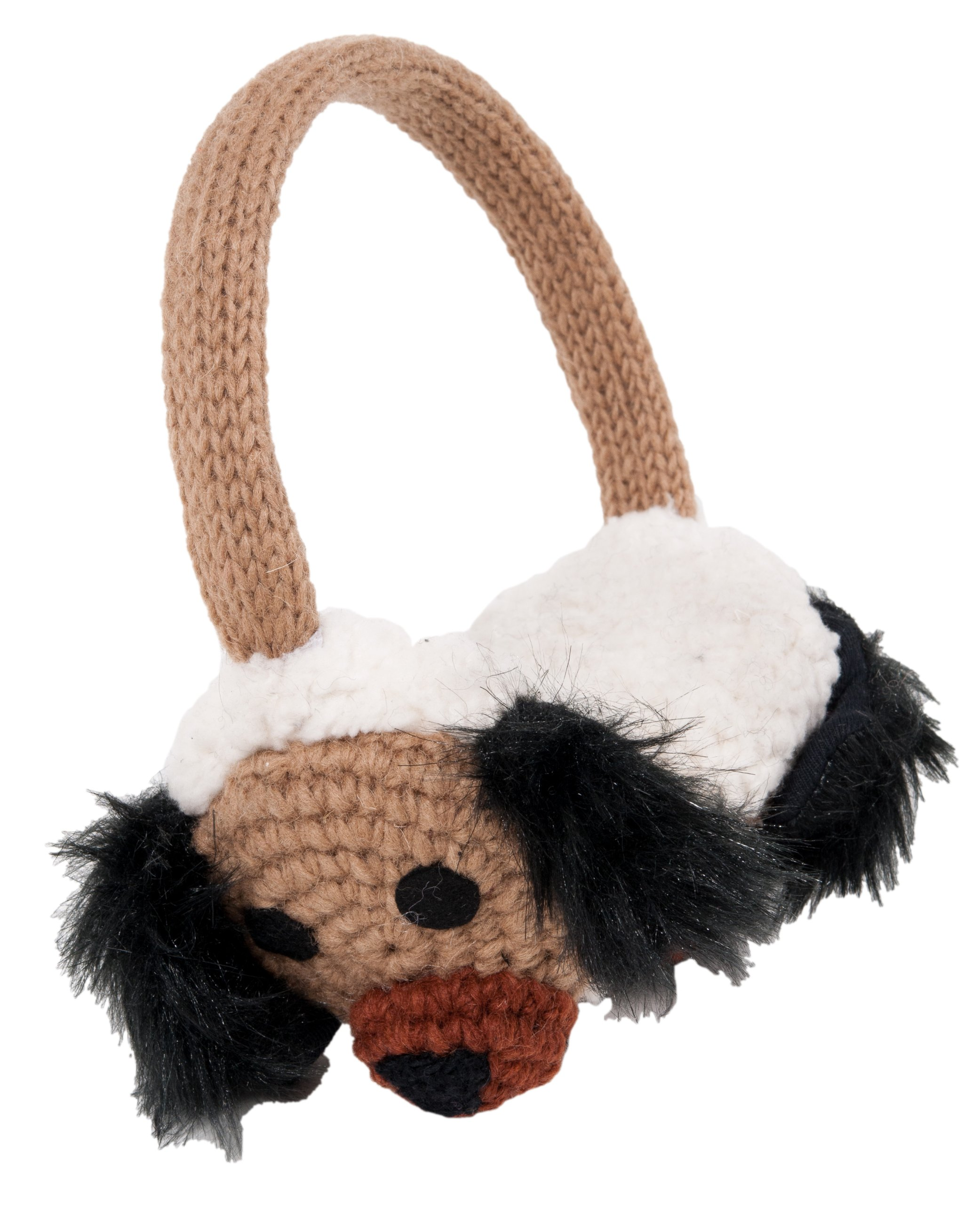 Nirvanna Designs EACRODOG Crochet Dog Earmuffs, Brown