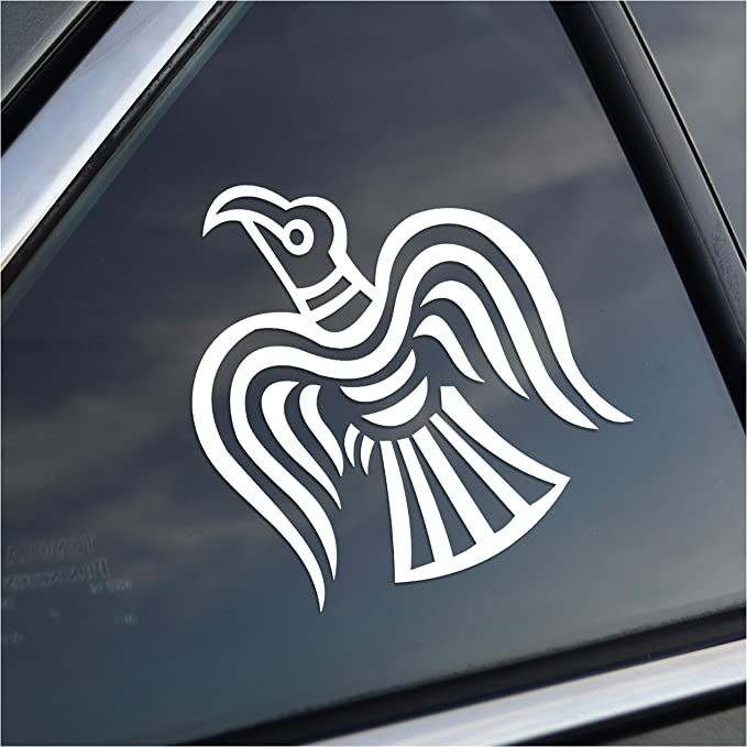 3S MOTORLINE 2X Black 6 Huginn and Muninn Twin Ravens Decal Sticker Car Vinyl Norse Odin Style c
