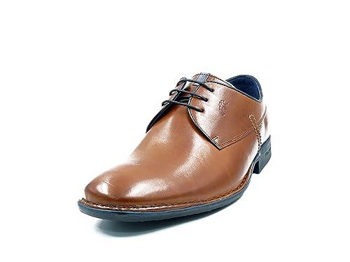 ca1db969 Zapatos Hombre con Cordones FLUCHOS, Piel Color Cuero, Plantilla extaible -  8596-107