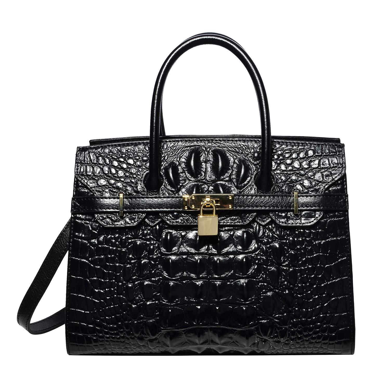 cb01bb4eef3f Amazon.com  PIJUSHI Women Purses And Handbags Crocodile Top Handle Satchel  Bags Designer Handbags  Shoes