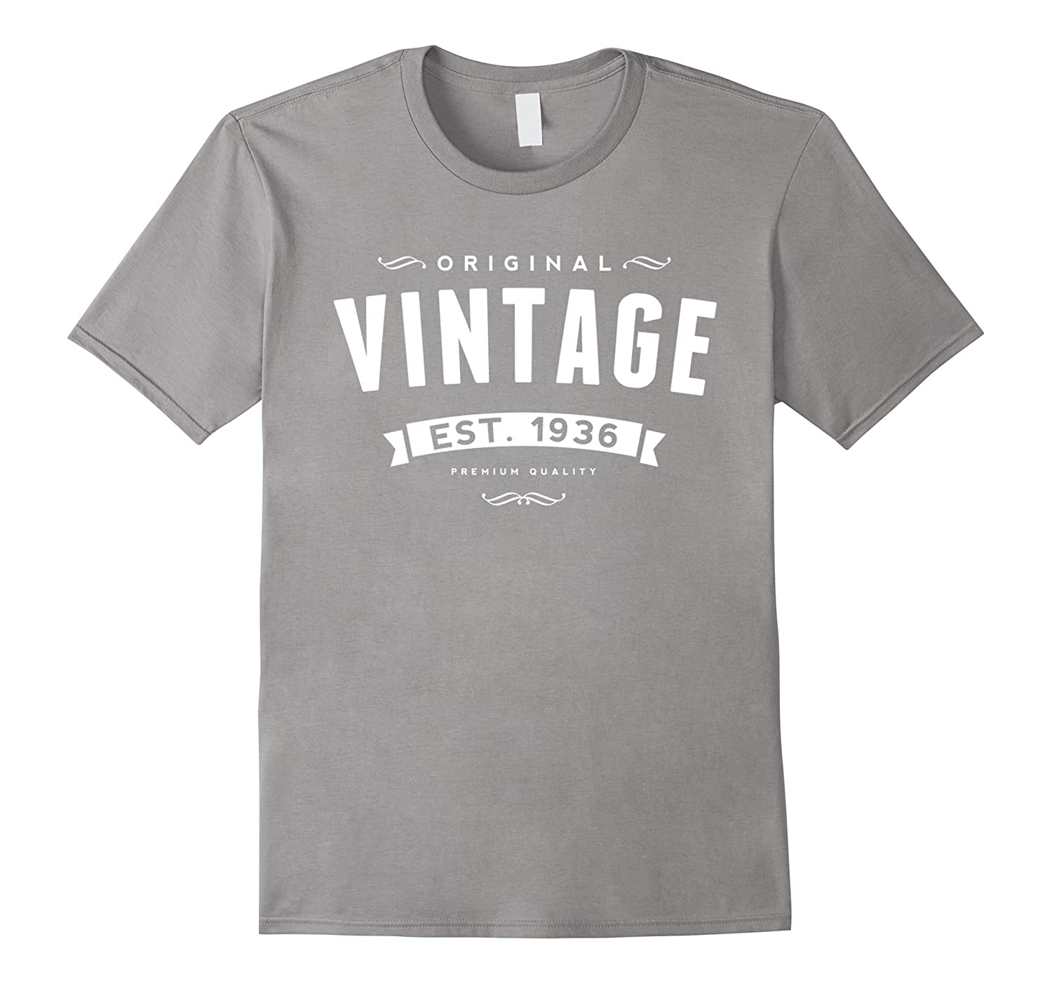 80 Years Old Birthday Gift Vintage 1936 80th Bday T Shirt CL