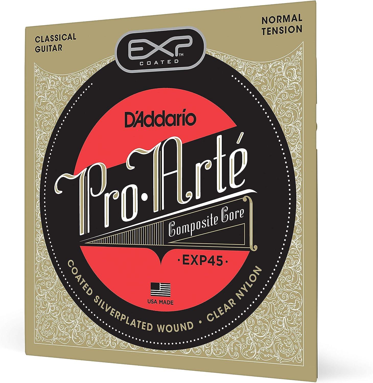 DAddario EXP45 - Juego de Cuerdas para Guitarra Clásica de Nylon ...