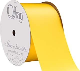 """product image for Offray Berwick 2.25"""" Wide Double Face Satin Ribbon, Lemon Yellow, 10 Yds"""