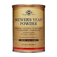 Solgar Brewer's Yeast Powder, 14 oz - Rich Source of Amino Acids, B-Complex Vitamins...