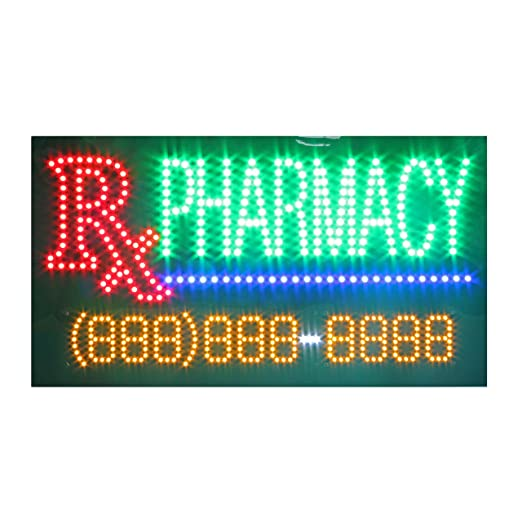 Amazon.com: LED Pharmacy Open Light Sign Super Bright ...