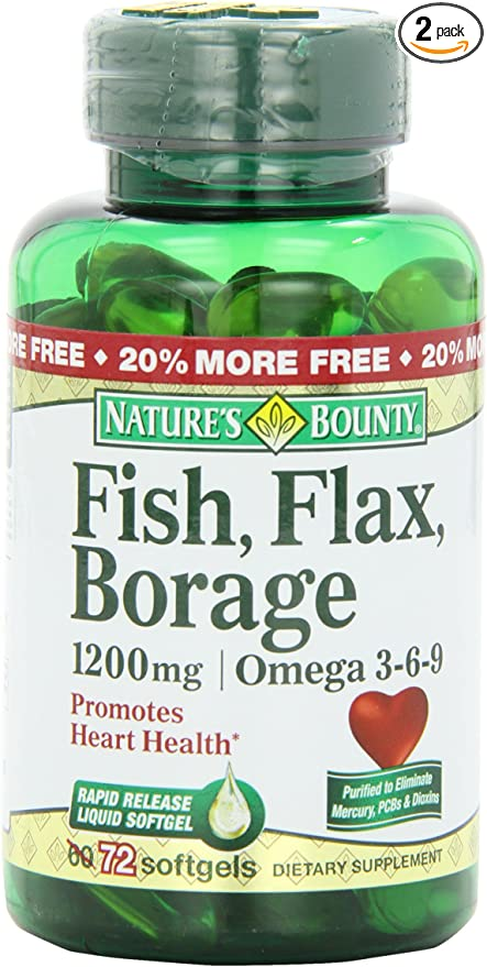 Amazon Com Nature S Bounty Omega 3 6 9 Fish Flax Borage 1200mg