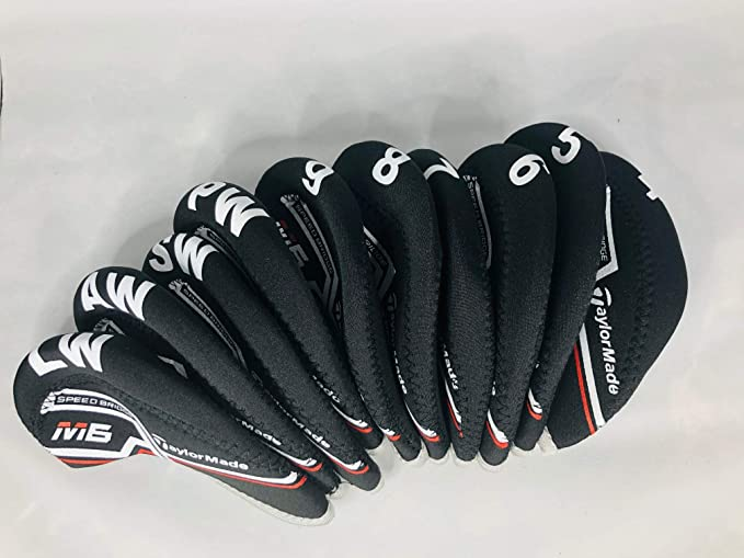 Taylor Made M6 Golf Iron Covers - 10 Pack Set