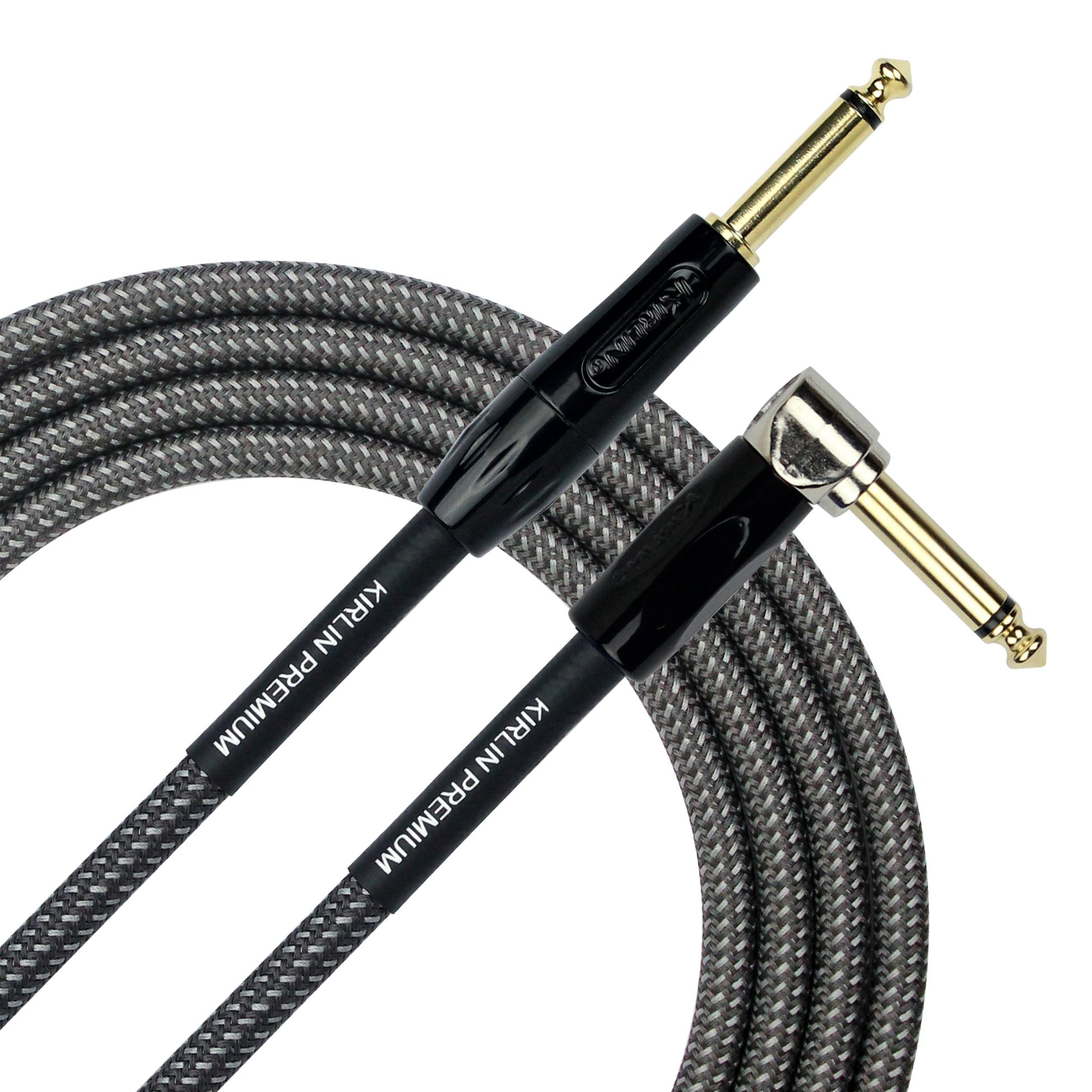 KIRLIN Cable IWB-202BFGL-10/CA 10-Feet Premium Plus Instrument Cable, Carbon Gray Woven Jacket by KIRLIN, KIRLIN CABLE