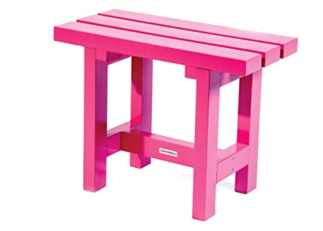 Sgabello city cm rosa legno panca da giardino cm amazon