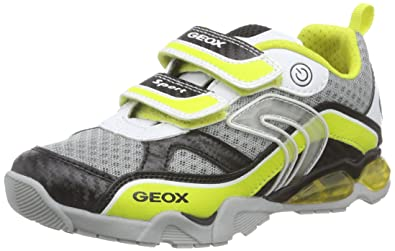 Geox Light Eclipse 2 BO, Sneakers Basses Garçon, Multicolore (C0810), 24