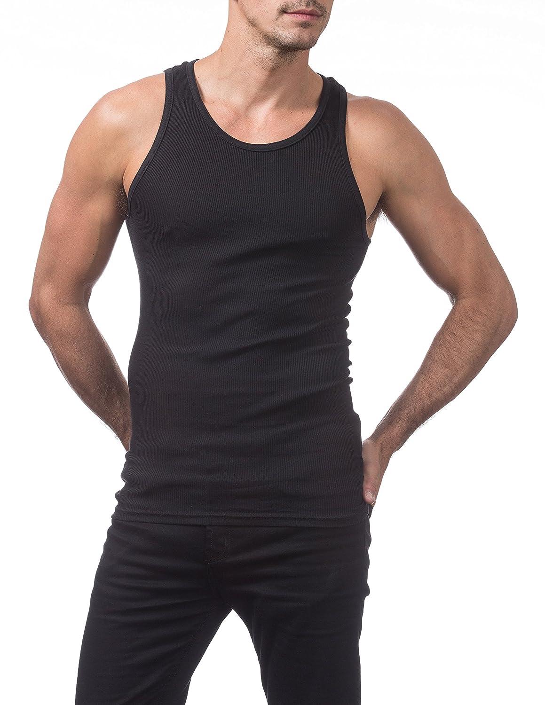 ddab60e9d510f Amazon.com  Pro Club Men s Premium Ringspun Cotton Ribbed A-Shirt  Clothing