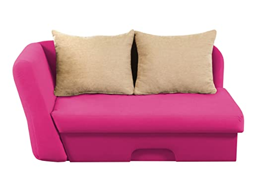 Rocco Linksseitig Kindersofa Schlafsofa Jugendsofa Pink Amazon De