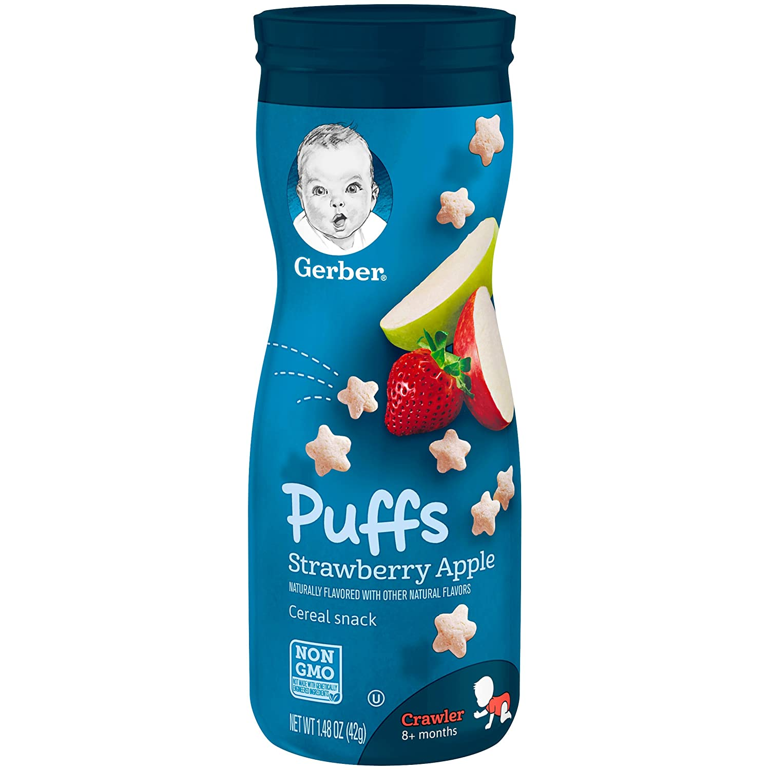 Gerber, Graduates Puffs, Strawberry Apple, 1.48 oz (42 g) GBR-04520