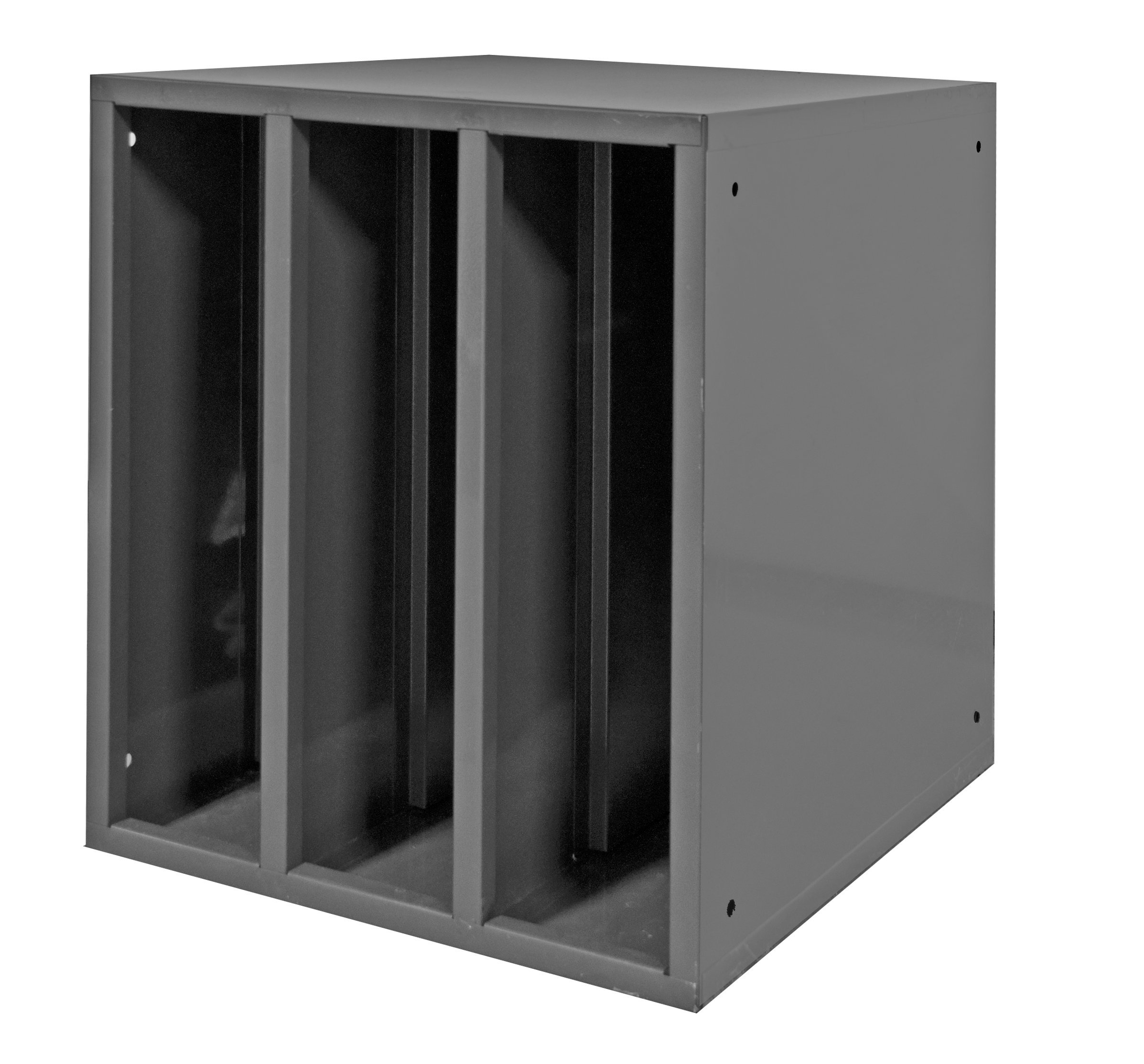 Durham 583-95 Heavy Duty Cold Rolled Steel Hydraulic Hose Cabinet with 2 Dividers, 24-1/8'' Length x 21-9/16'' Width x 24'' Height, Gray Powder Coat Finish