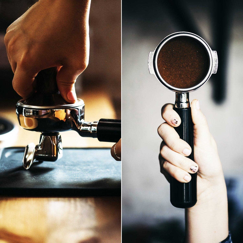 Diguo Espresso Coffee Tamper Flat Based Espresso Tamper for 58mm Portafilter Basket Hefty 18//8 Stainless Steel Flat Base Tamper Top Grade