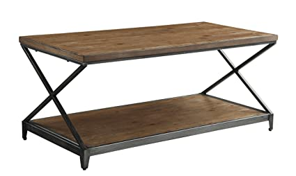 ACME Furniture 80445 Fabio Coffee Table, Oak U0026 Antique Black