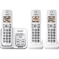 PANASONIC Sistema telefónico inalámbrico ampliable con contestador, Bluetooth Link2Cell Link2Cell Identificador de…