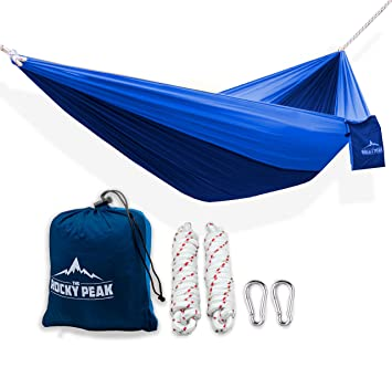 1 ultralight camping hammock with free ropes   new designs  for backpacking or hiking amazon     1 ultralight camping hammock with free ropes   new      rh   amazon