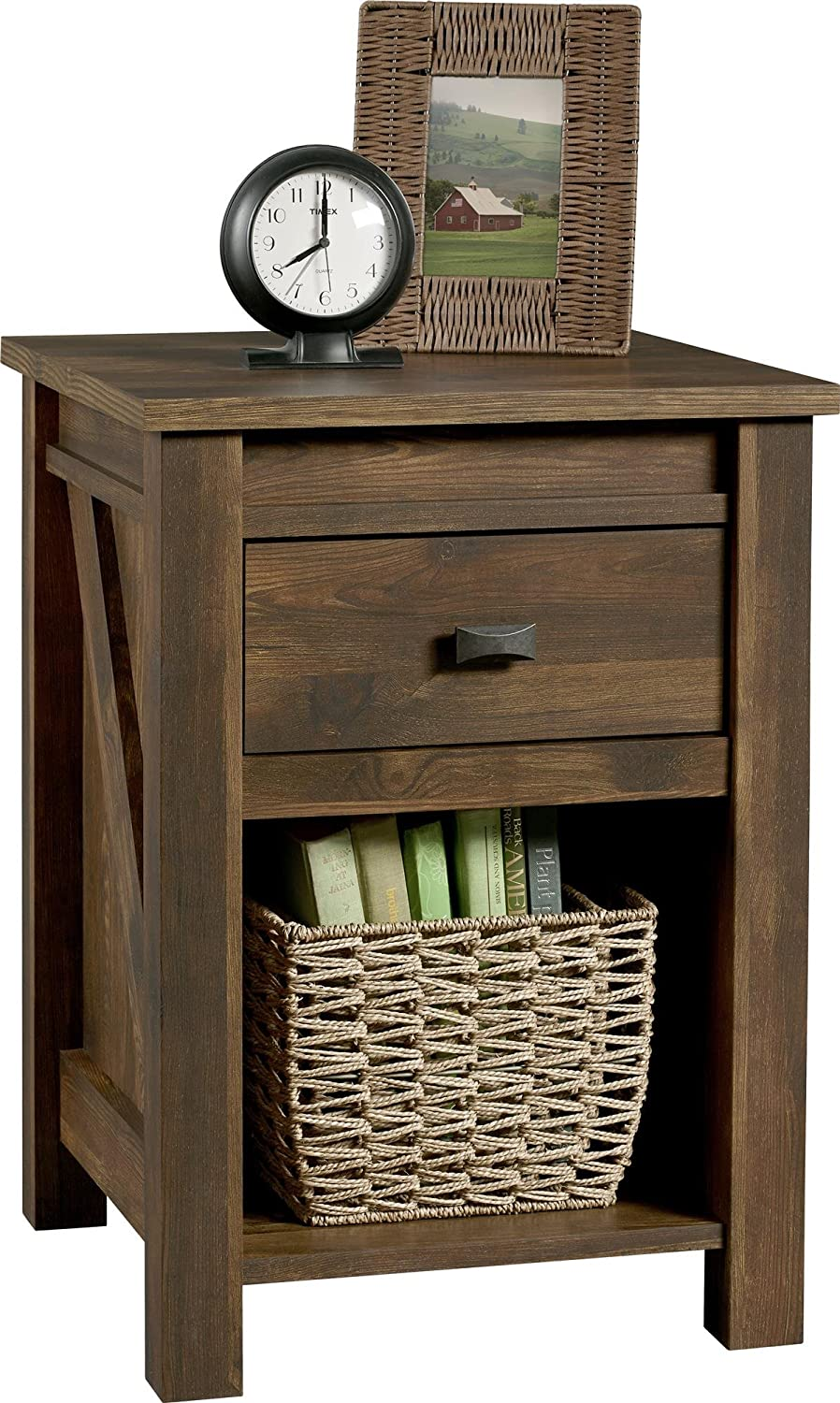 Ameriwood HomeFarmington Night Stand, Small, Century Barn Pine