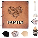 SICOHOME Scrapbook Album,10x10.5 Inch Personalized Scrapbook with Words Frame Opening