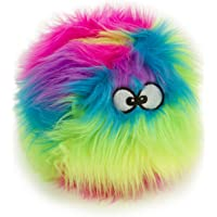 goDog 73736-48997-024 FurBallz Plush Squeaker Dog Toy, Small, 1 Count, Rainbow (Q773036)