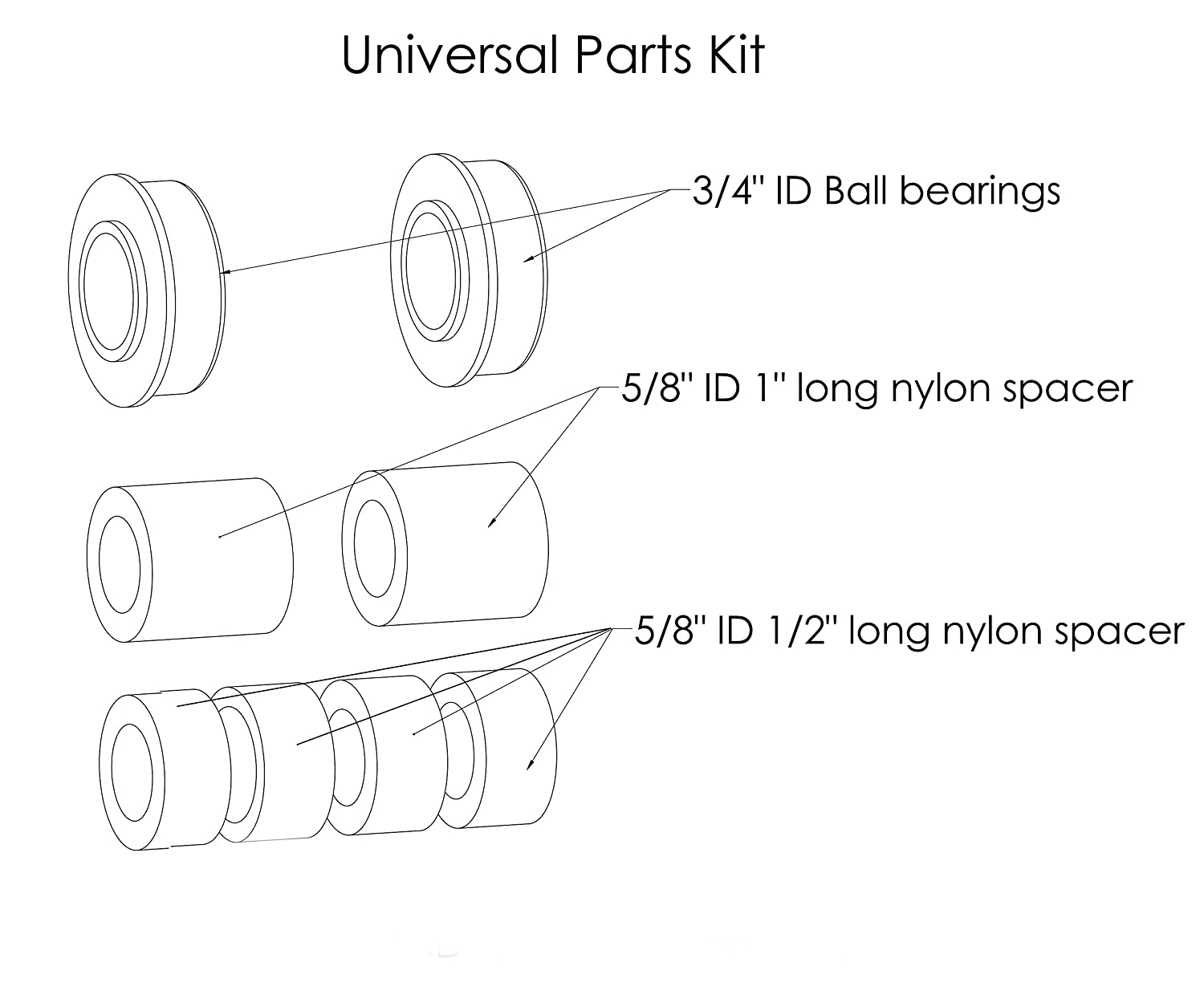 Universal Fit Flat Free Wheelbarrow Tire And Wheel Universals Rear Axle Available Part Diagrams 10 In Suspension Assembly With Adapter Kit Garden Outdoor