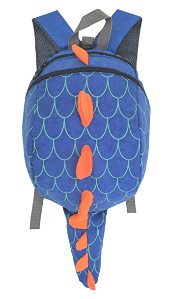 ZuiKyuan Toddler Kids Dinosaur Backpack With Anti-lost Safety Leash for Boys  Girls (Blue 1894f227ecce9