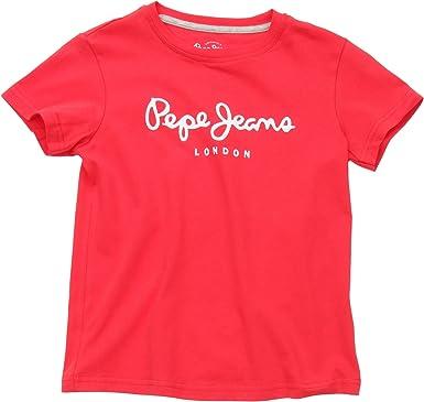 Pepe Jeans Art, Camiseta para Niños, Rojo (Crispy Red) 14 ...