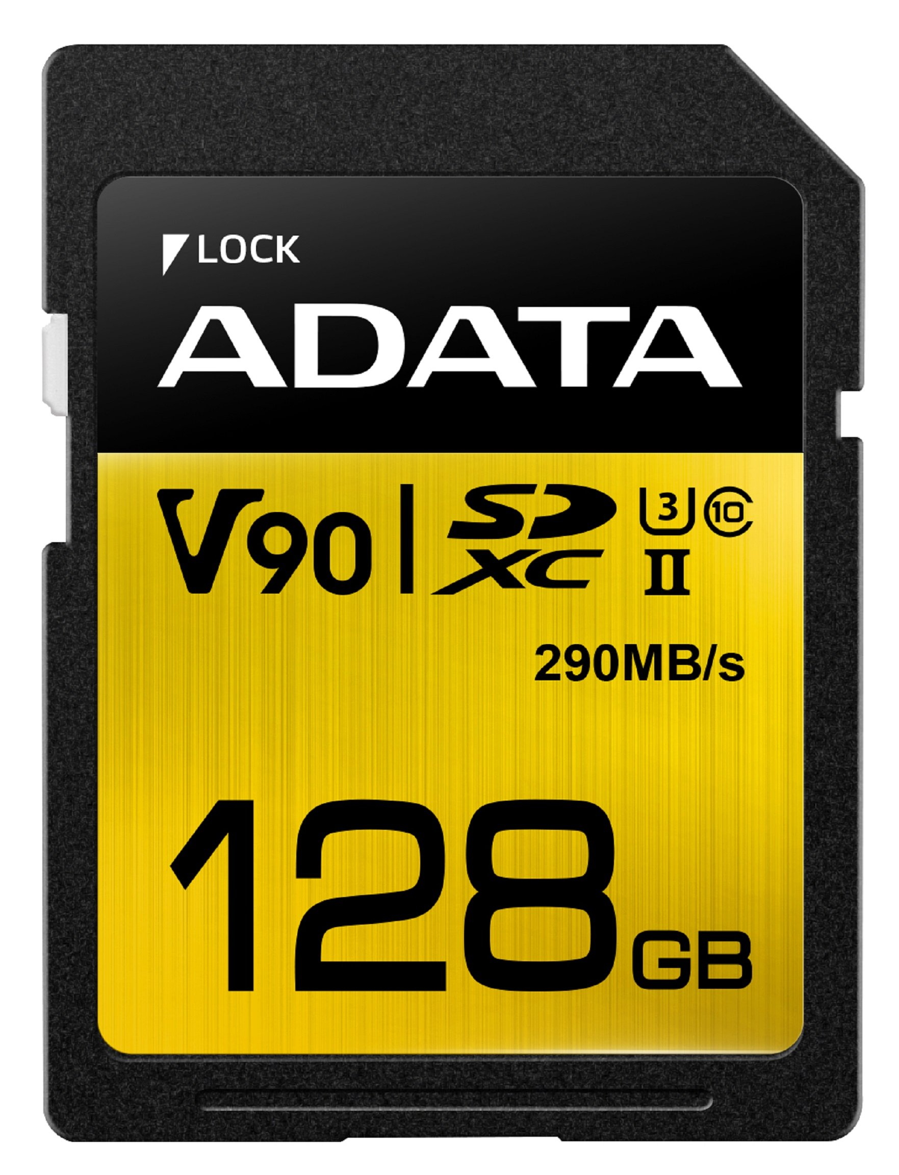 ADATA Premier ONE 128GB SDXC UHS-II U3 Class10 V90 3D NAND 4K 8K Ultra HD 290MB/s SD Card (ASDX128GUII3CL10-C) by ADATA