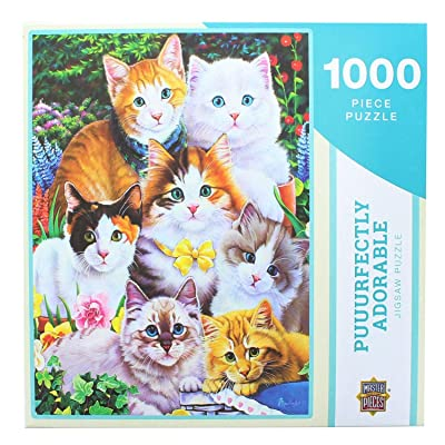 Puuurfectly Adorable by Jenny Newland 1000 Piece Puzzle: Toys & Games