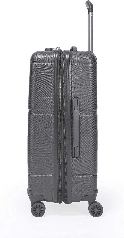 LYS Easyjet Bleu Gris Lufthansa etc Valise Cabine Extensible Trolley 55x35x20 cm Plus 7 cm souflet Ultra l/éger 4 Roues doubl/ées ABS Rigide Bagage /à Main pour Ryanair